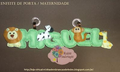 enfeite-porta-maternidade-safari-miguel-bebê-feltro