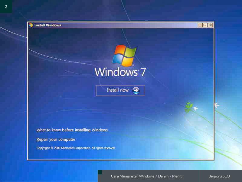 Cara Menginstall Windows 7 gambar 2