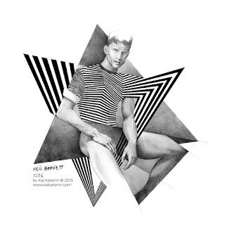 Neil Barrett ss16 men's fashion illustration by Kai Karenin