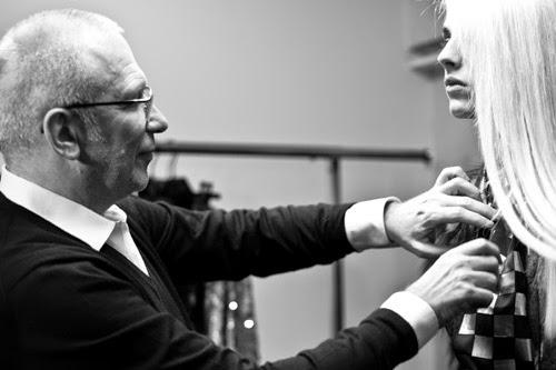 Belle photo Portrait de Jean Paul gaultier défilé et atelier haute couture