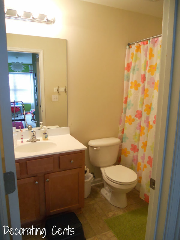 Girl's Bathroom Makeover title=