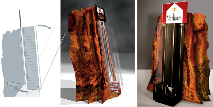 Marlboro POS display dispenser Design by Somerset Harris