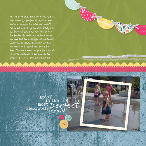 MDS Blog Hop: Perfect Day Scrapbook Page
