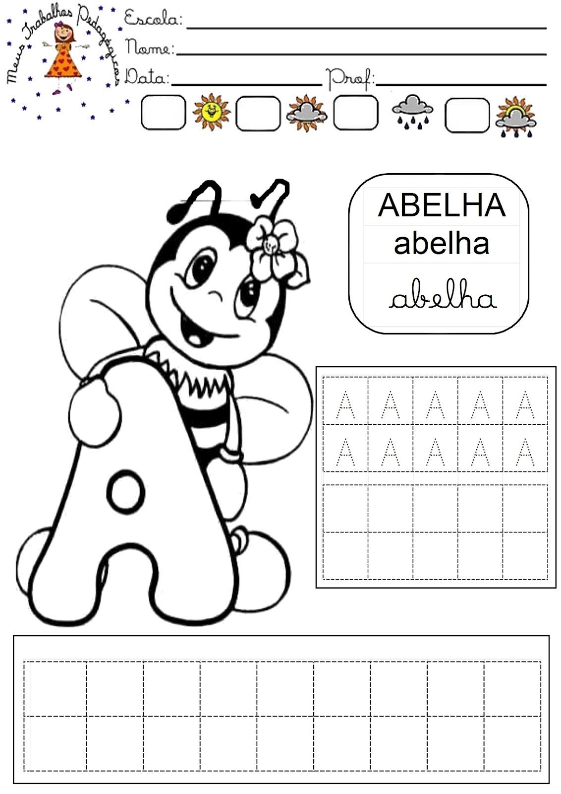 Super Meus Trabalhos Pedagógicos ®: Apostila alfabeto dos animais cobrir WH02