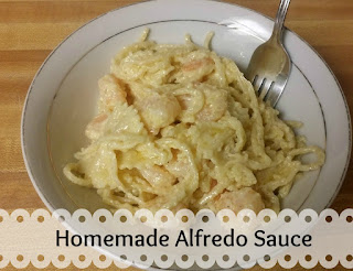 homemade 3 ingredient Alfredo Sauce