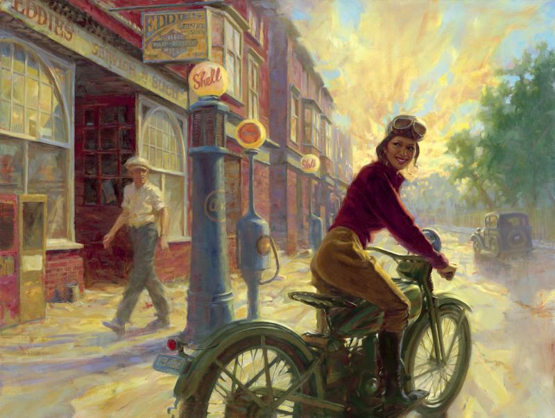 Racing Caf 232 Motorcycle Art David Uhl 3