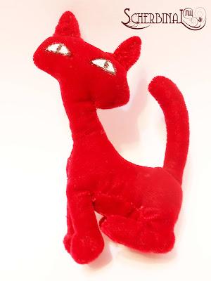 текстильная игрушка кошка