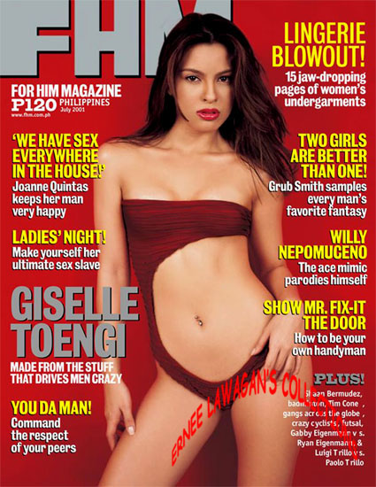 Giselle 'G' Toengi is FHM Cover Girl for June 2001