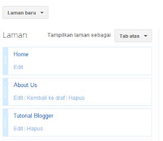Cara Cepat dan Mudah Membuat Menu Horizontal Di Blogger