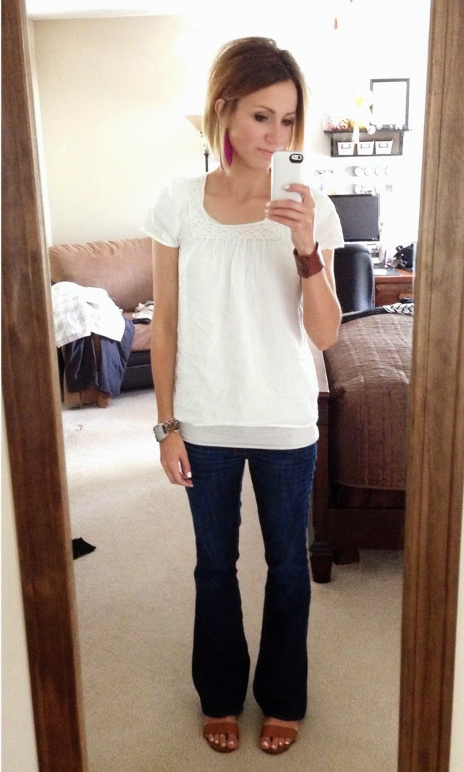 Everyday Style White Tee And Jeans One Little Momma