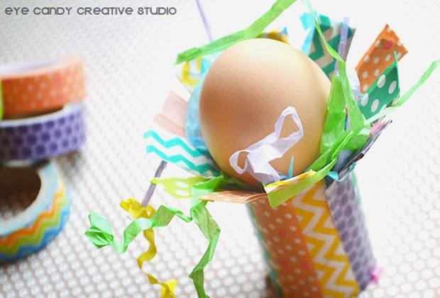 easter grass, plastic egg crafts, washi tape, easter eggs, easter crat