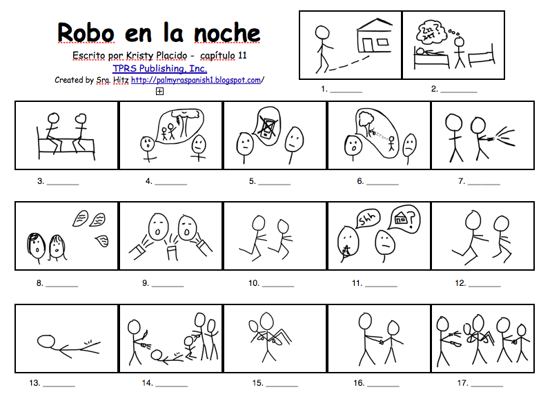 Teaching Spanish W Comprehensible Input Robo En La Noche Ch 11