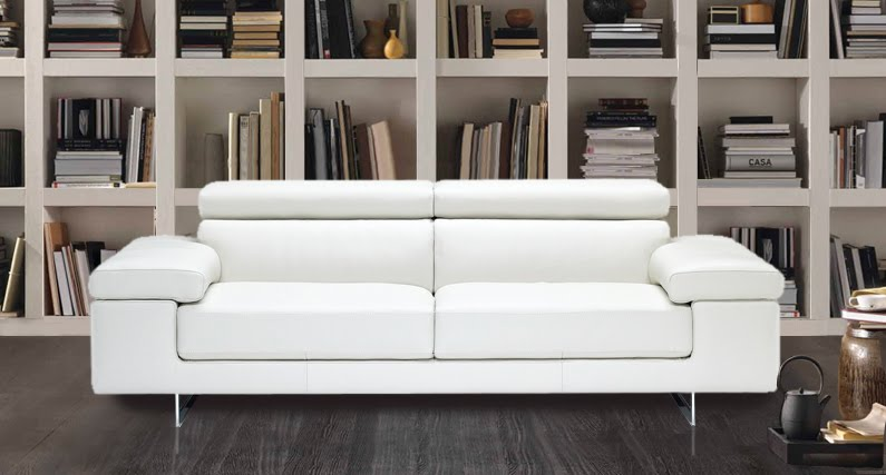 En mundo en tus manos sof s de piel blancos - Sofas modernos de piel ...
