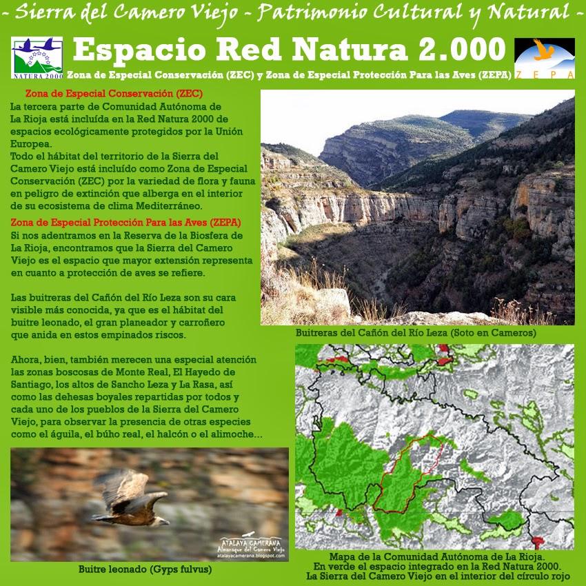 Sierra del Camero Viejo. Patrimonio Cultural y Natural. Red Natura 2000: Zona Especial de Conservación (ZEC) y Zona de Especial Protección para las Aves (ZEPA).