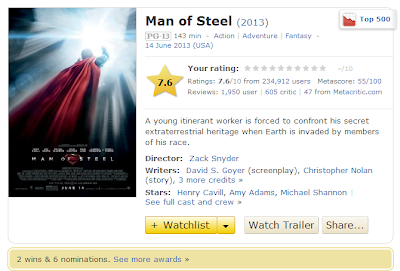 Man Of Steel 2013 IMDB