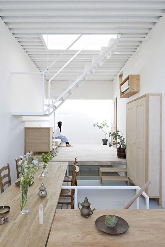 Projeto para constru o de casa em terreno pequeno e for Minimalist house okinawa japan