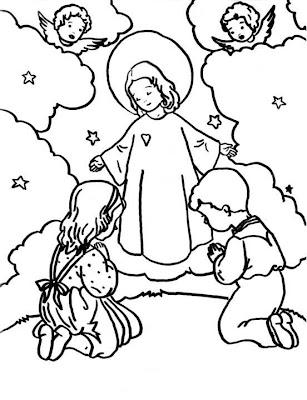Virgen Niña para colorear