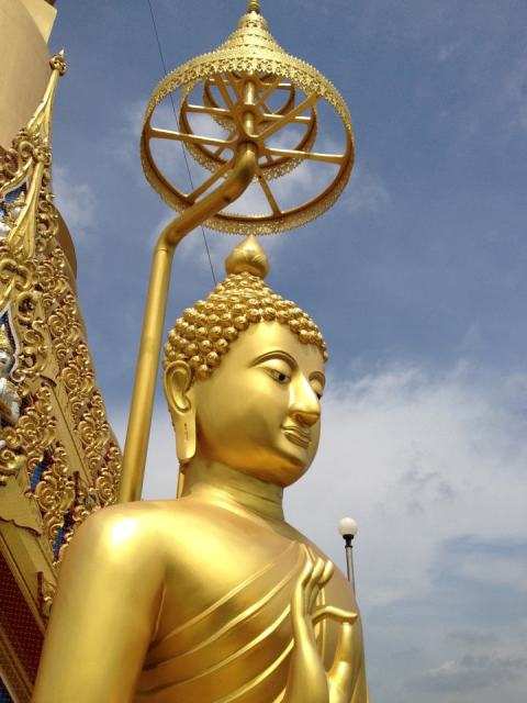 Lord Buddha Golden Sculpture