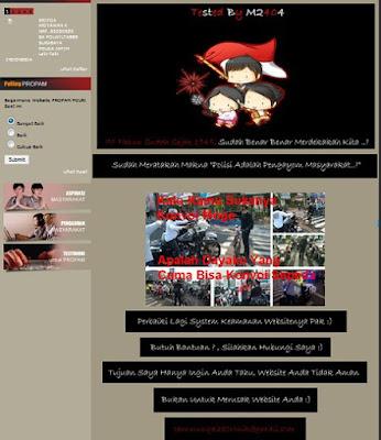 Situs Propam Polri Kena Deface, Peretas Sisipkan Pesan Protes
