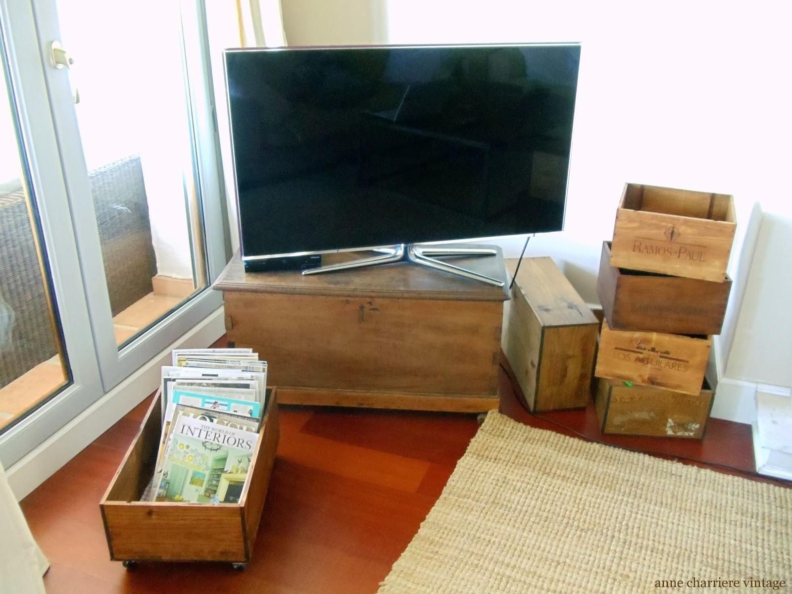 deco cajas de vino, envejecer madera, estilo industrial,