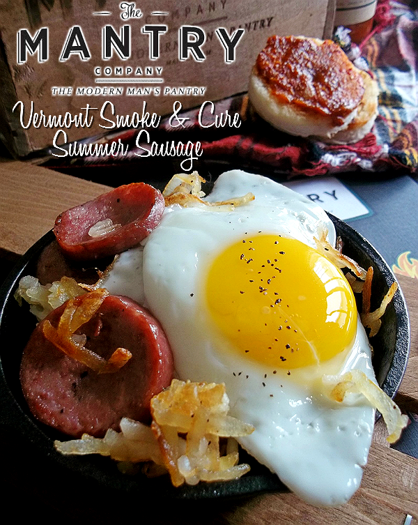 MANTRY- Modern Man's Pantry Subcription Box, Hand Picked Artisan Foods and Ingredients- Vermont Smoke And Cure Summer Sausage Skillet