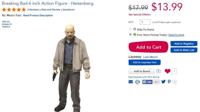 Mother launches Petition to get Breaking Bad Dolls Banned