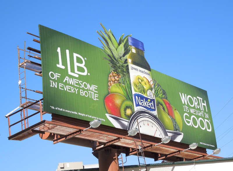 Naked Green Machine juice billboard