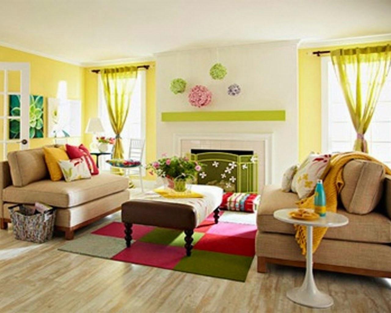 Yellow Walls Living Room Interior Decor Elite Decor 2015 Decorating Ideas With Yellow Color
