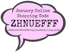 Hostess Code for your January Stampin' Up! Shopping