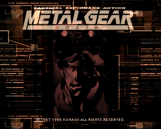 Metal Gear Solid Title Screen playstation