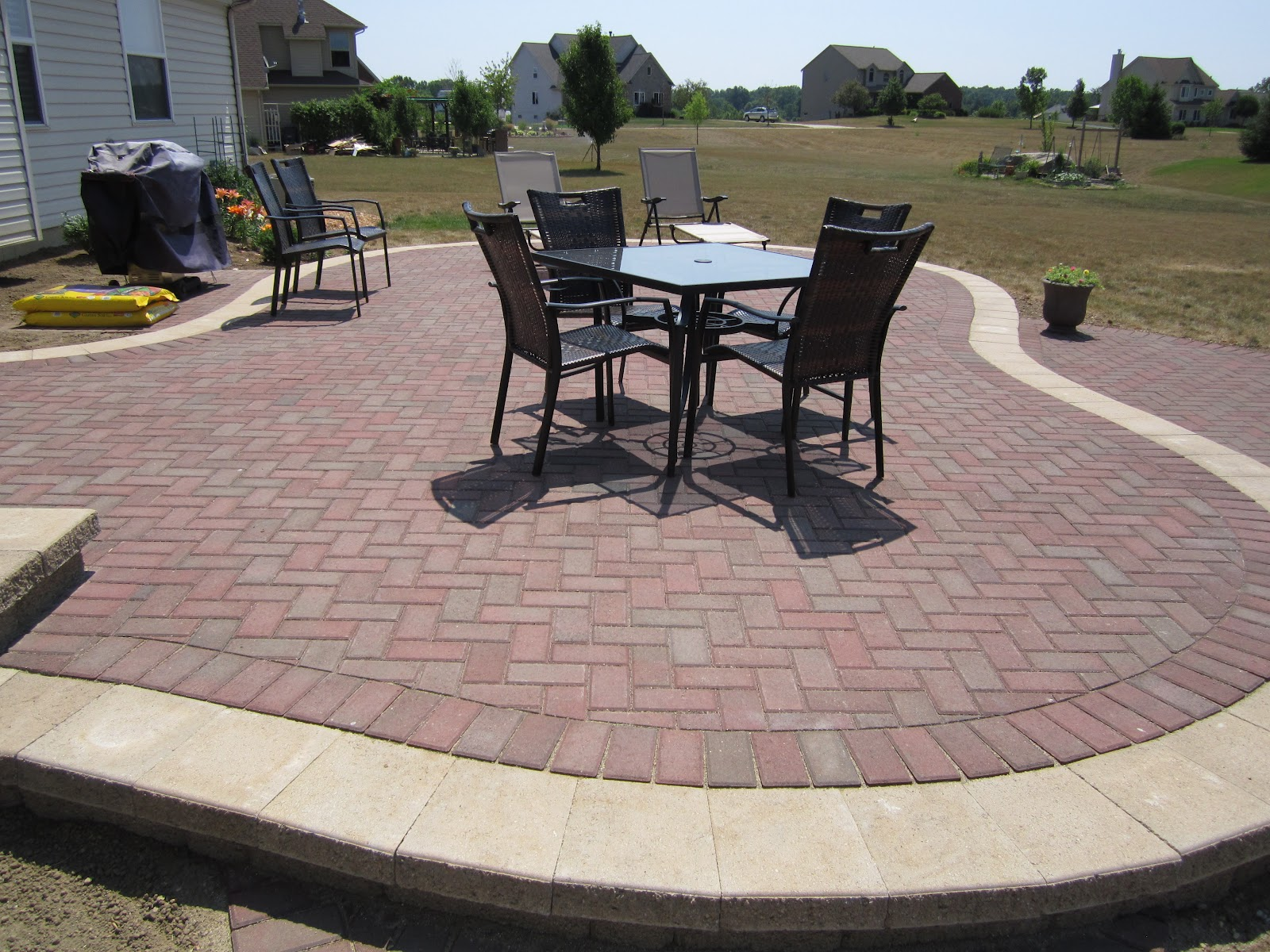 Raised Patio Pavers. A Brick Paver Installation. Long Term Performance Is  Optimal When