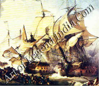 The Royal Navy Britain's navy dominated the oceans from the victory over the French at Trafalgar in 1805 to the late 19th century. Its main role except in wartime was to protect the shipping lanes for British merchants.