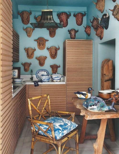 Witzige Küchen- und Flur-Gestaltung gesucht? Geflochtene Stierköpfe!