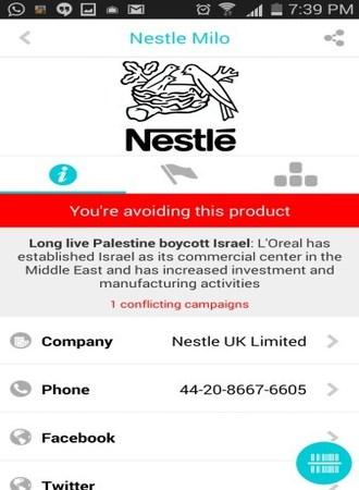 Aplikasi mobile Buycott [5]