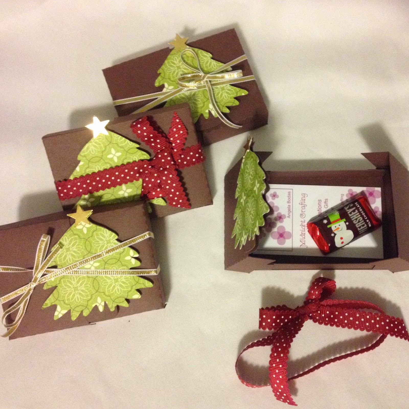 MidnightCrafting.com  Stampin Up Gift CArd Holder Christmas Tree