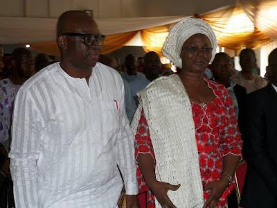 ayo fayose birthday with his wife