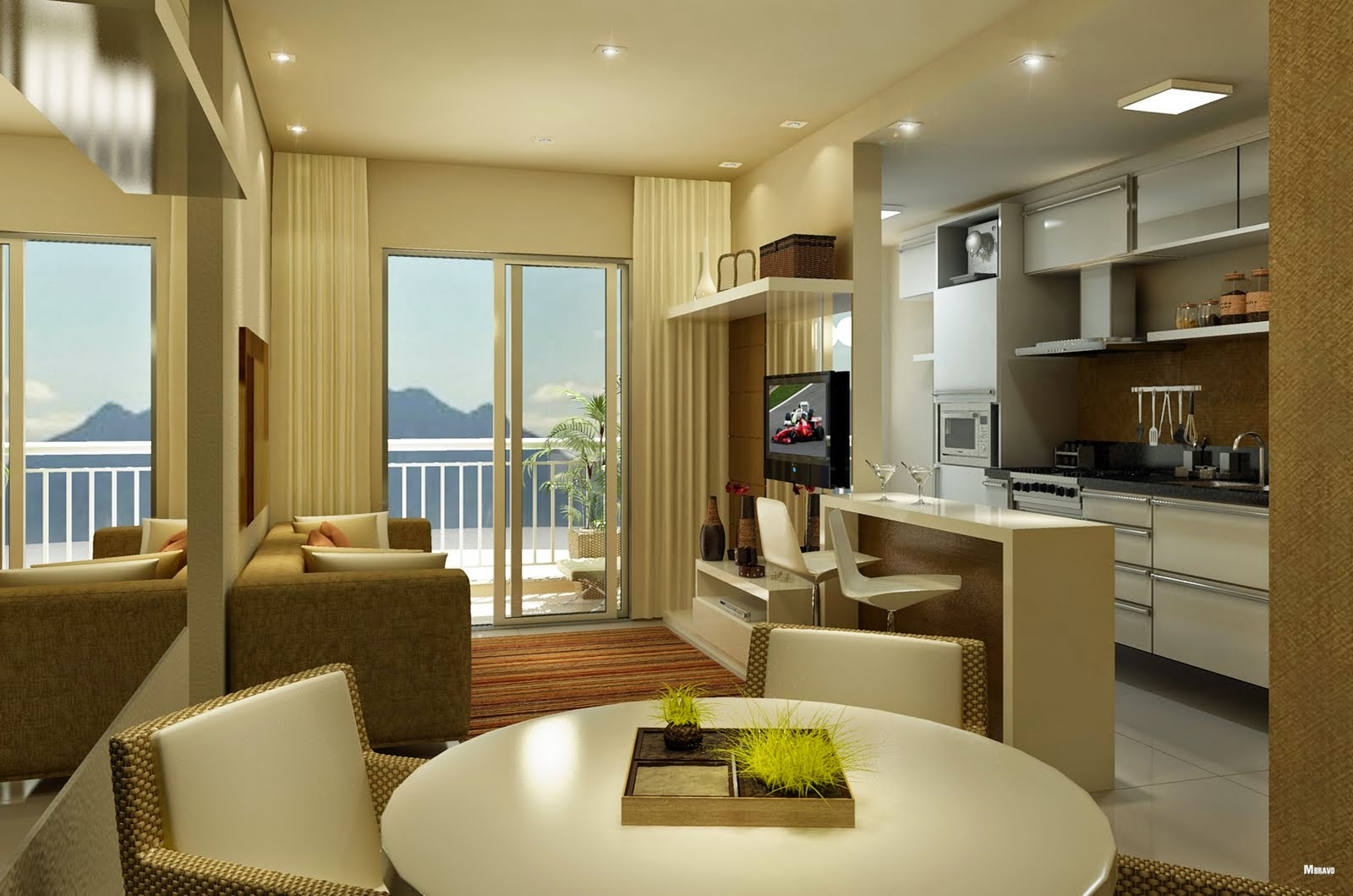 Soluções para apartamentos pequenos Apê em Decoração #3A2B12 1600 1060