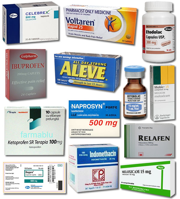 list of all non steroidal anti-inflammatory drugs
