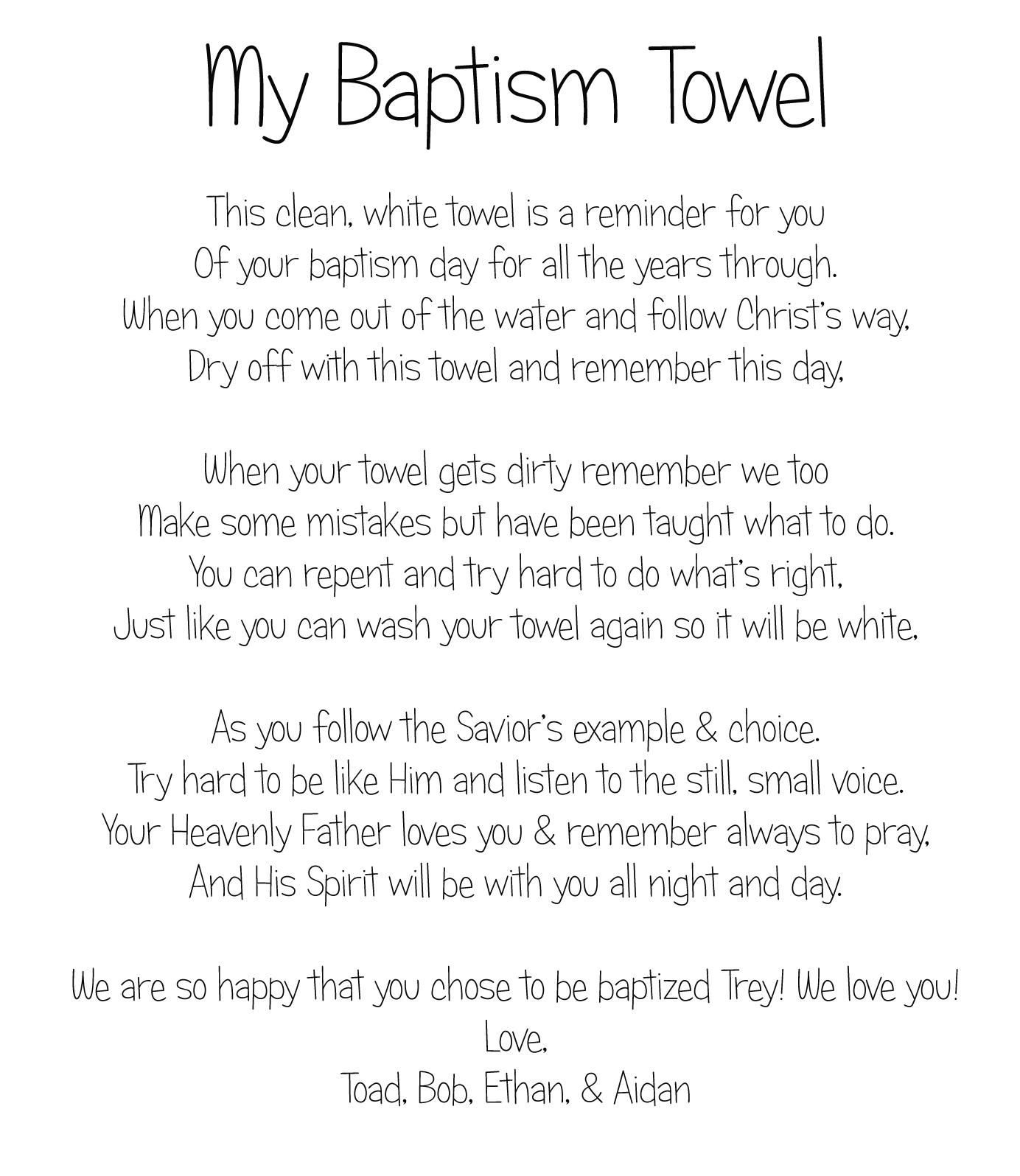 Toad's Treasures: Special Bottles & Baptism Gifts