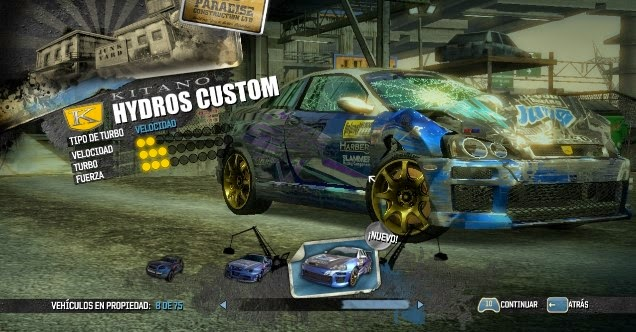 Burn Out Paradise Pc - Jugando con el Kitano Hydros Custom