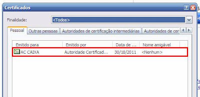 NeXT ERP Certificado Digital
