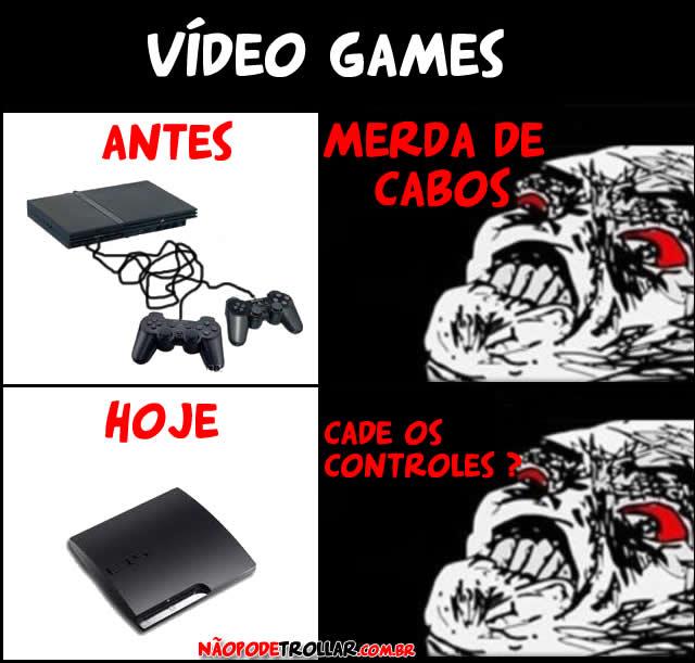 videogames antes e depois