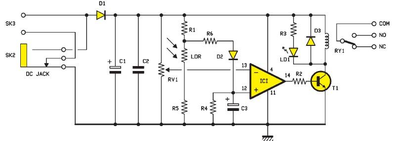 Schema electronique electrique montage realisation 2015 - Schema electrique lumiere ...