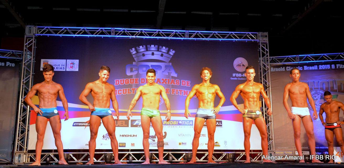 Bernardo competiu ao lado de 12 atletas na categoria Body Shape até 1,70 m. Foto: Alencar Amaral
