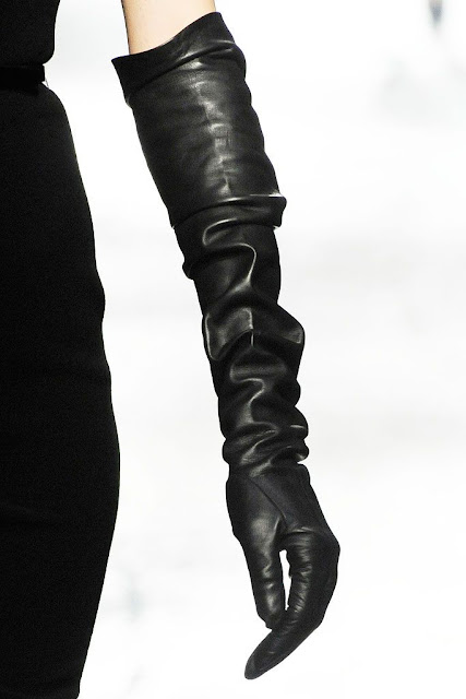 opera gloves, leather gloves, Lanvin