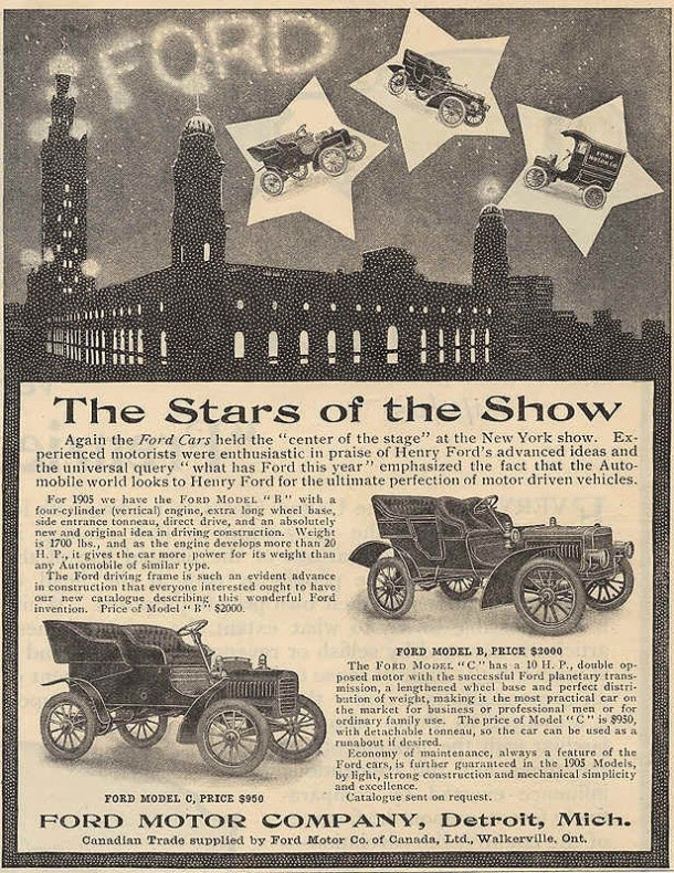Ford Cars The Stars Of Show 1905