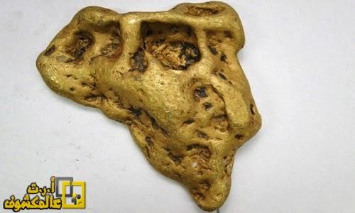 كتلة من الذهب تزن 6664 غرام
