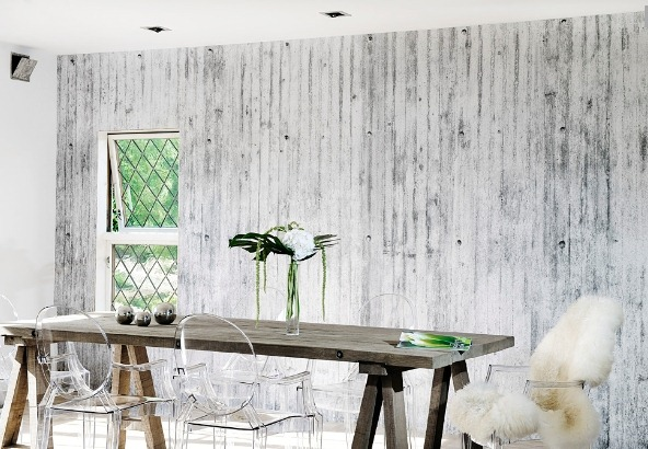 Inspira interiør: concretewall