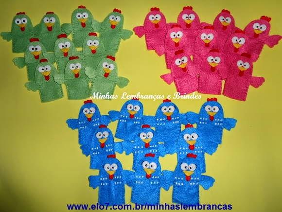 dedoches-galinha pintadinha-feltro-lembrancinhas-brindes-infantil