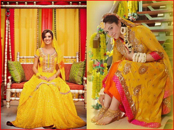 Mehndi Ceremony Cost : Fashion latest mehndi and sangeet dresses by sanz
